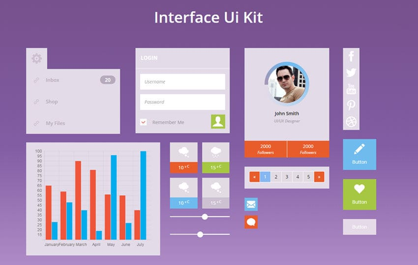 Interface UI Kit a Flat Bootstrap Responsive Web Template Mobile website template Free