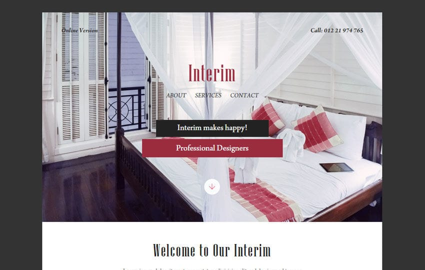 Interim a Newsletter Responsive Web Template Mobile website template Free
