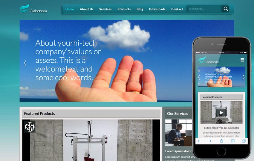 Kaisersosa a Corporate Portfolio Flat Bootstrap Responsive Web Template