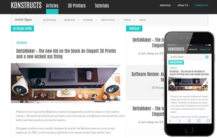 Konstructs a Blogging Category Flat Bootstrap Responsive Web Template Mobile website template Free