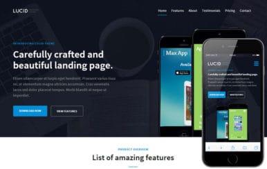 Lucid v1 a Mobile App Landing Flat Bootstrap Responsive Web Template