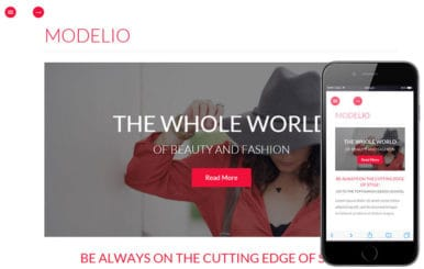 Modelio a Fashion Category Flat Bootstrap Responsive Web Template