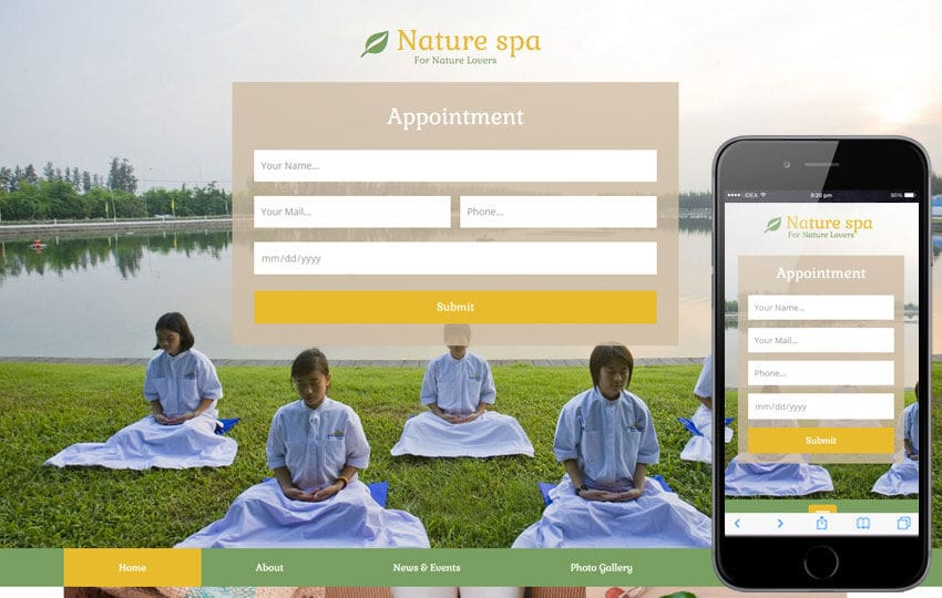 Nature Spa a Spa Category Flat Bootstrap Responsive Web Template Mobile website template Free