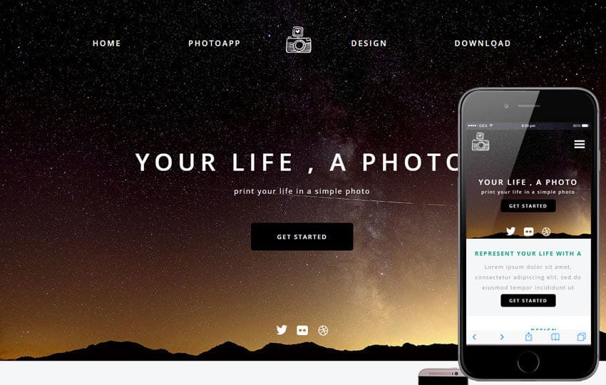 Photo Time a Photographer Portfolio Flat Bootstrap Responsive Web Template Mobile website template Free