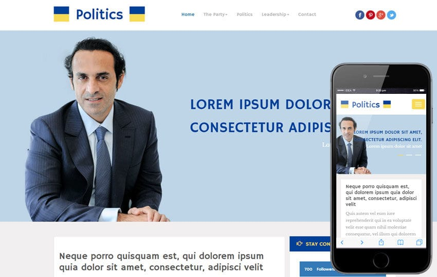 Politics a People and Society Category Flat Bootstrap Responsive Web Template Mobile website template Free