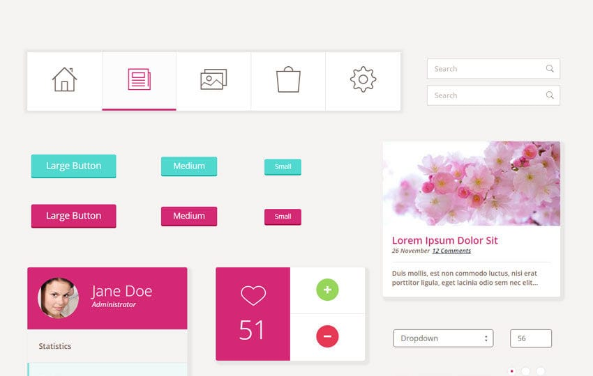 Pretty UI Kit a Flat Bootstrap Responsive Web Template Mobile website template Free