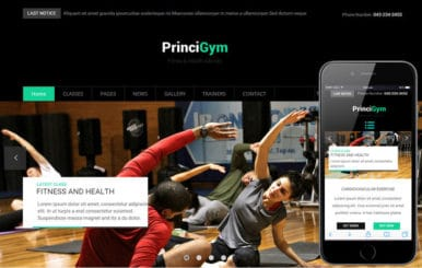 Princi Gym a Sports Category Flat Bootstrap Responsive Web Template