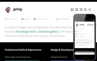 Privy a Personal Portfolio Flat Bootstrap Responsive Web Template