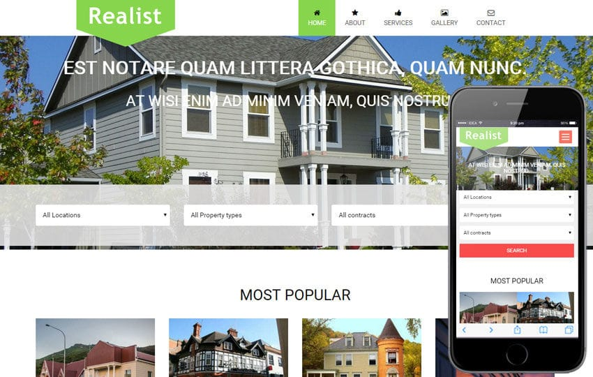 Realist a Real Estate Category Flat Bootstrap Responsive Web Template