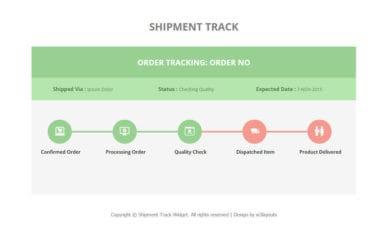 Shipment Track Responsive Widget Template