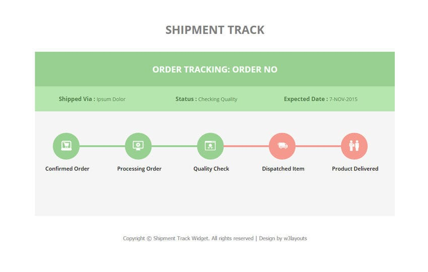Shipment Track Responsive Widget Template Mobile website template Free