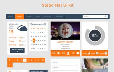 Static UI Kit a Flat Bootstrap Responsive Web Template