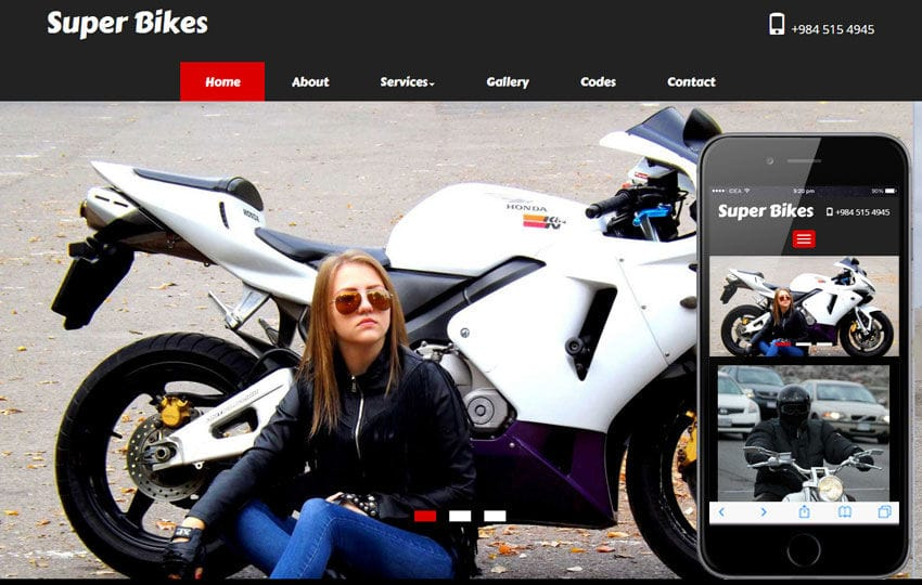 Super Bikes a Automobile Category Flat Bootstrap Responsive Web Template Mobile website template Free