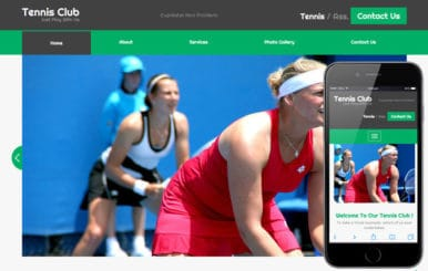 Tennis Club a Sports Category Flat Bootstrap Responsive Web Template