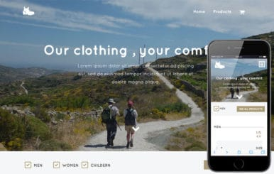 Trekking a Flat Ecommerce Bootstrap Responsive Web Template