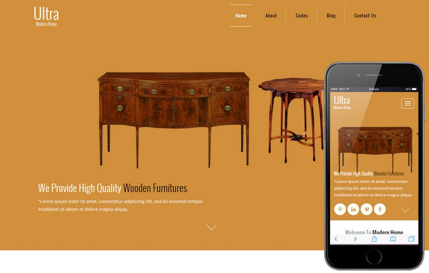Ultra a Furniture Category Flat Bootstrap Responsive Web Template Mobile website template Free