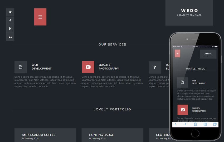 Wedo a Corporate Portfolio Flat Bootstrap Responsive Web Template
