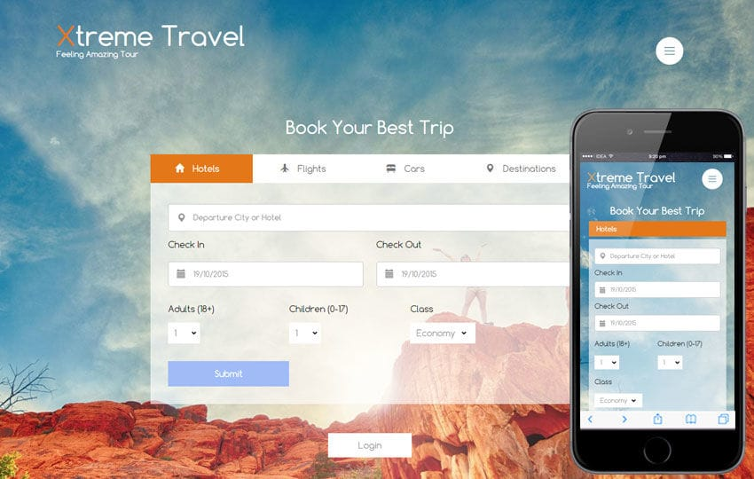 Xtreme a Travel Guide Flat Bootstrap Responsive web template Mobile website template Free