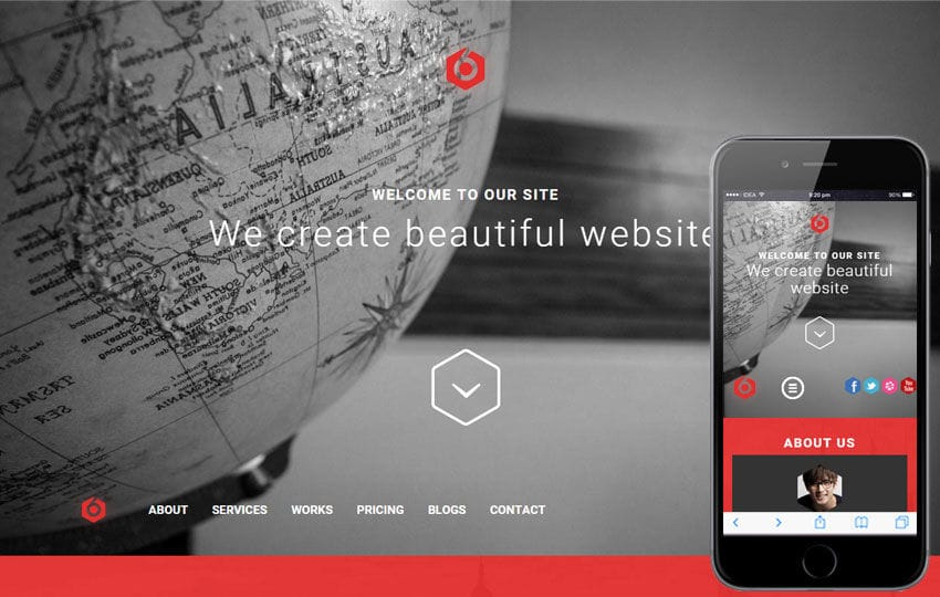 6Cors a Corporate Category Flat Bootstrap Responsive Web Template
