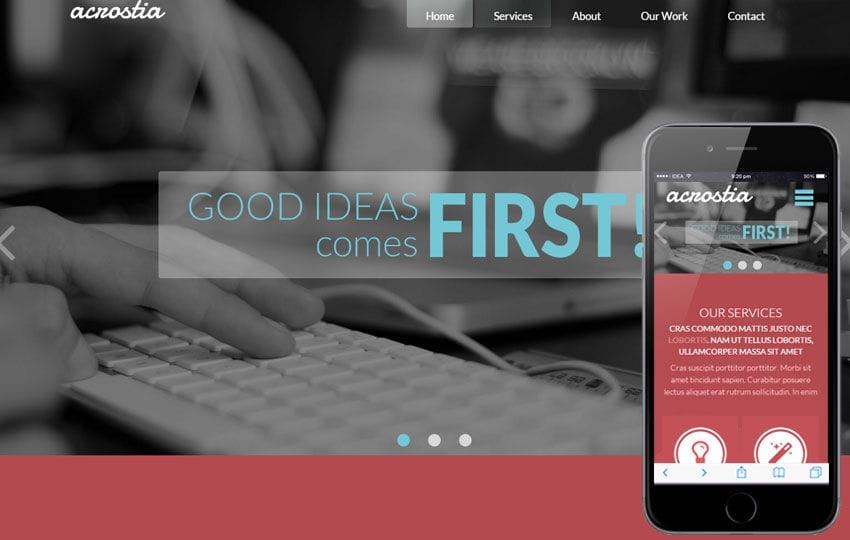Acrostia Corporate Multipurpose Flat Bootstrap Responsive Web Template