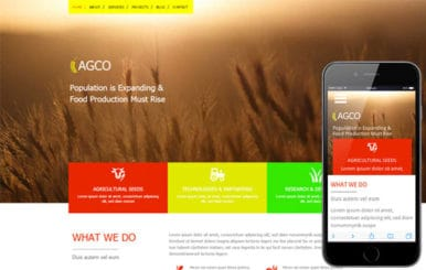 Agco a Agriculture Category Flat Bootstrap Responsive web template