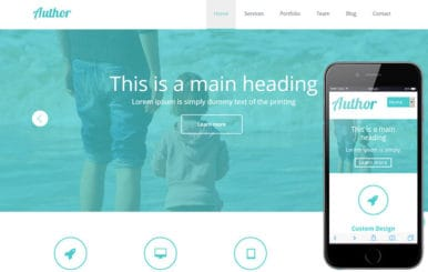 Agency Author Portfolio Flat Responsive Web Template