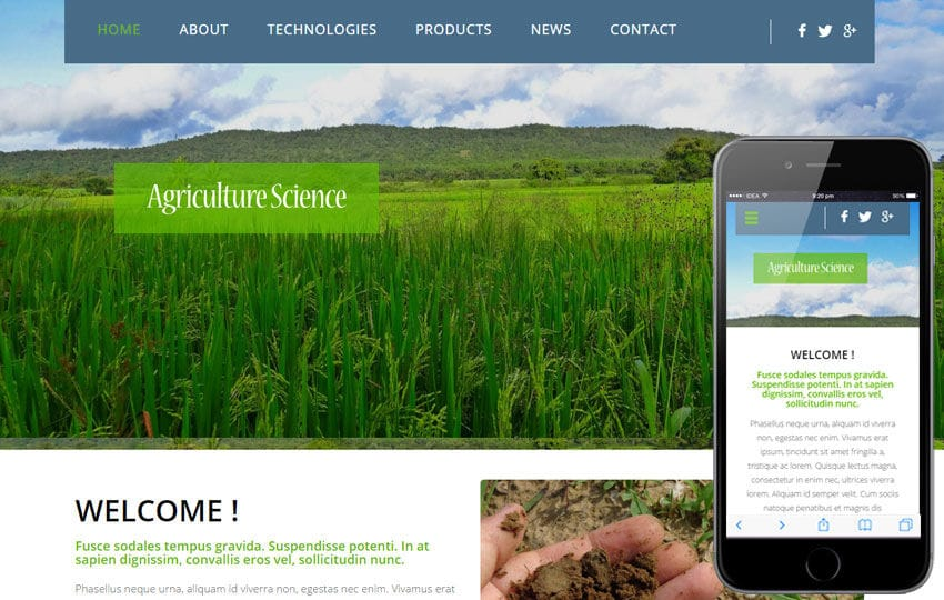 Agriculture Science a Agriculture Category Flat Bootstrap Responsive web template
