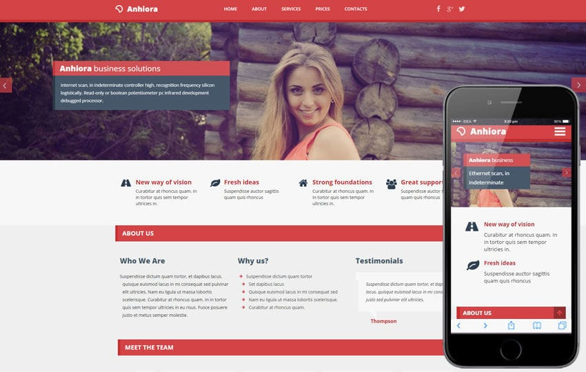 Anhiora a Corporate Multipurpose Flat Bootstrap Responsive Web Template