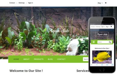 Aqua Club a Animal Category Flat Bootstrap Responsive Web Template