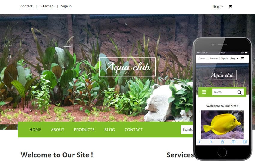 Aqua Club a Animal Category Flat Bootstrap Responsive Web Template Mobile website template Free