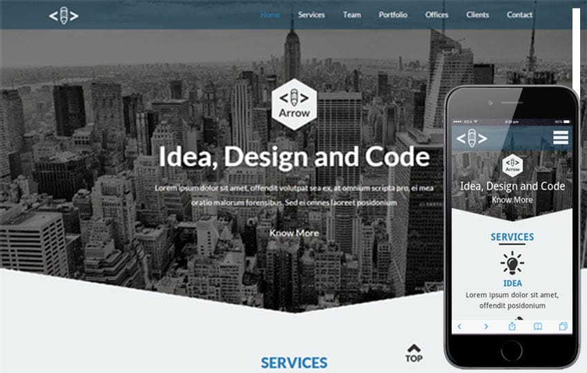 Arrow a Corporate Portfolio Flat Bootstrap Responsive web template