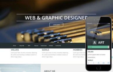 Art a Portfolio Singlepage Flat Responsive web template