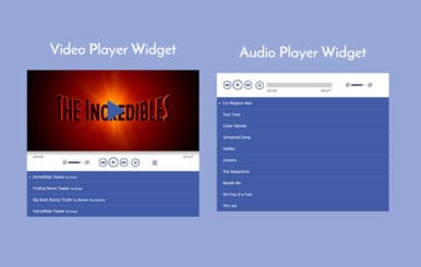 Audio and Video Player Responsive Widget Template