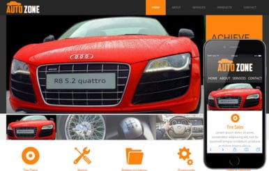 AutoZone Mobile Website Template