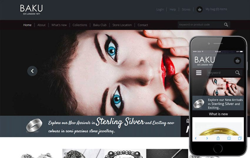 Baku a Jewellery Category Flat Bootstrap Responsive web template Mobile website template Free