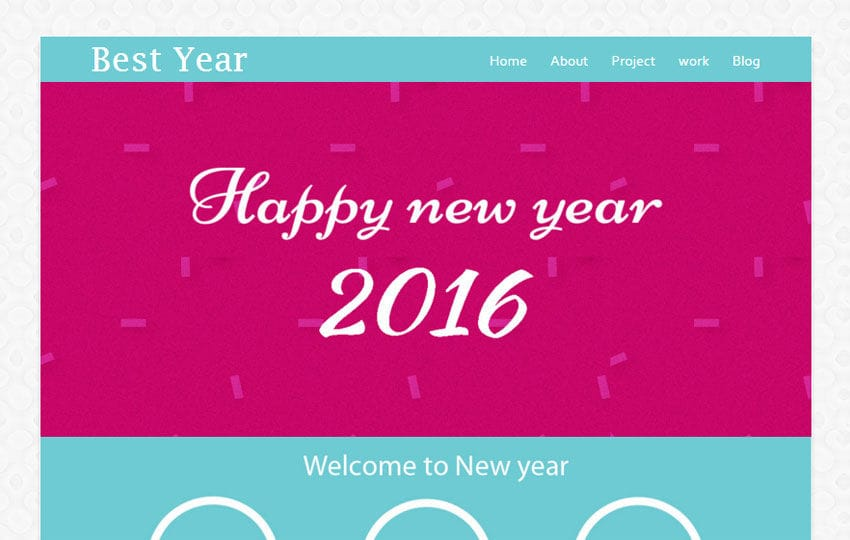 Best year a Newyear Season Newsletter Responsive Web Template Mobile website template Free