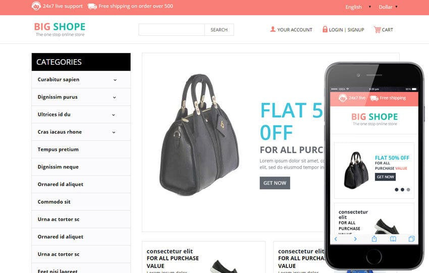 Big Shope a Flat Ecommerce Bootstrap Responsive Web Template