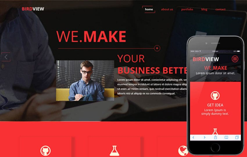 Bird View a Singlepage Multipurpose Flat Bootstrap Responsive web template Mobile website template Free