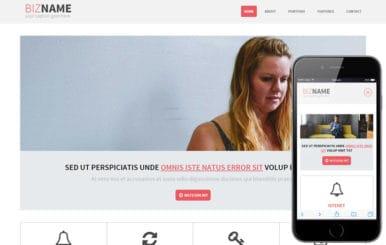 Bizname a Multipurpose Flat Bootstrap Responsive web template