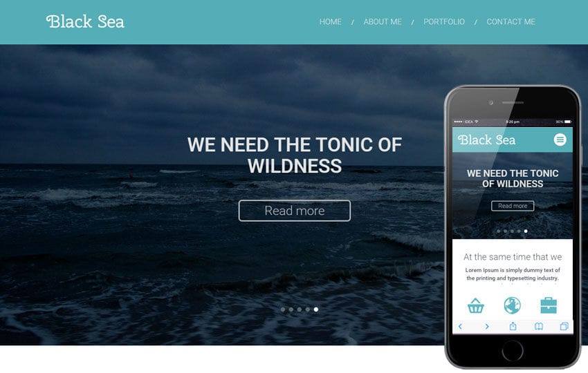 Black Sea a Corporate Multipurpose Flat Bootstrap Responsive web template