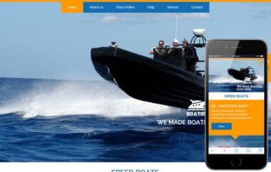 Boating Flat Ecommerce Bootstrap Responsive Web Template