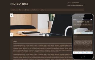 Brownie – basic website and mobile Template for free