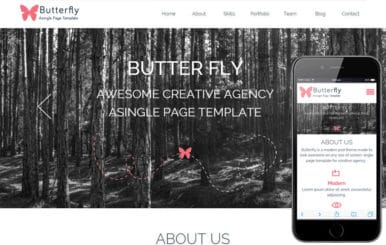 Butterfly a Corporate portfolio Flat Responsive web template