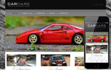 Car Care a Automobile Mobile Website Template