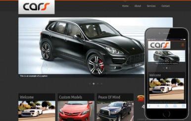 Cars Automobile Mobile Website Template