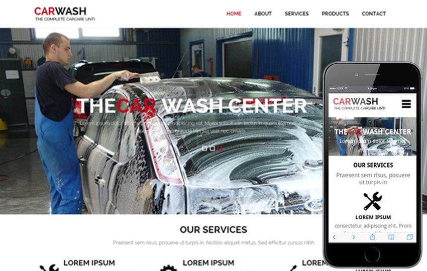 Car Wash a AutoMobile Category Flat Bootstrap Responsive Web Template Mobile website template Free