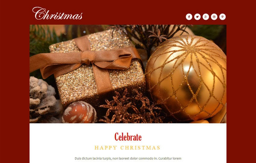 Christmas a Newsletter Responsive Web Template Mobile website template Free