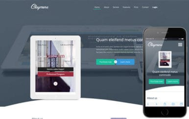 Claymore a Mobile App based Flat Bootstrap Responsive web template