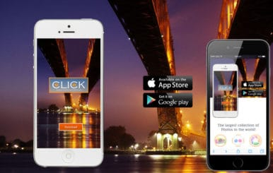 Click a App based Mobile Website Template