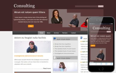 Free Consulting webtemplate and mobile webtemplate for corporate businesses